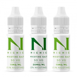 NicNic 10ml Nic Salt Shots